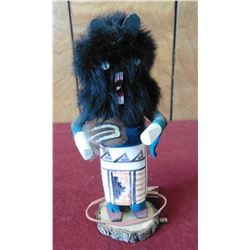 "Hopi Indian Kachina Doll. Signed, ""Bear M.B."". About 7"" tall."