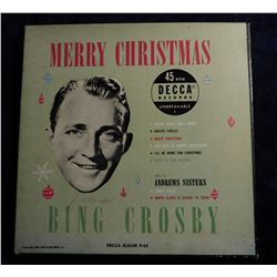 """Merry Christmas Bing Crosby 45 RPM"" Record in original box. Copyright 1950."