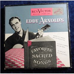 "RCA Victor ""Eddy Arnold's Favorite Sacred Songs"" 45 RPM Record in original box. Ca. 1950."