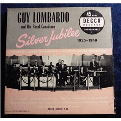 """Guy Lombardo and His Royal Canadians Silver Jubilee 1925-1950 45 RPM"" Record in original box. Copyr"