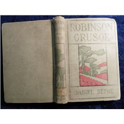 """The Life and Strange Exciting Adventures of Robinson Crusoe of York, Mariner"", by Daniel Defoe, hdb"