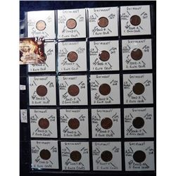 (20) Foreign Coins from Germany 20-Different Euros all in 2X2's and plastic page. Catalog Value $ 6.