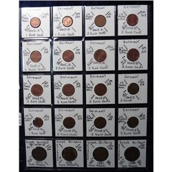 (20) Foreign Coins from Germany and Great Britain 2 Pence and Euros, all in 2X2's and plastic page.