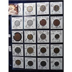 (20) Different Foreign Coins from France, Great Britain, Hong Kong, Hungary, Iceland, India, & Jamai