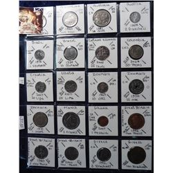 (20) Different Foreign Coins from Angola, Argentina, Australia, Austria, Brazil, Cayman Islands, Col