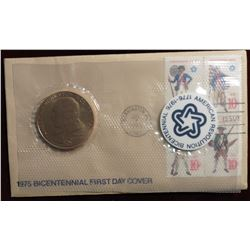 1975 U.S. Mint Bicentennial Medal & 1st Day Cover NR