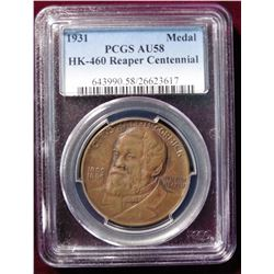 1931 So-Called ${HK-460} Reaper Centennial PCGS 58 #643990.58/26623617