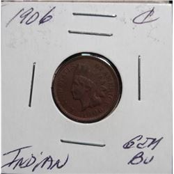 1906 C Indian Gem BU Brown