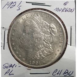 1921 S Morgan Silver Dollar CH.BU Semi-PL Better Date