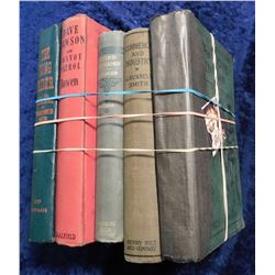 "(5) Old Hardbound books in various states of preservation: ""The Long Rider and Treasure of Vanished"