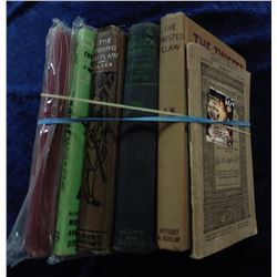 "(6) Books: ""Tarzan and the Ant Men"", ""The Young Outlaws"", ""The Twisted Claw"", and more."