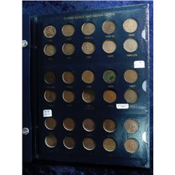 1856-1909S Indian Cent set in a blue Whitman Album.  Missing the 1869/8, 1876, 1877, (has an extra 1