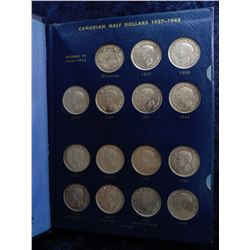 1937-73 Complete Set of Canada Silver Half Dollars with a couple of extra. Includes (2) 1947 without