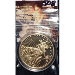 1933 $20 St. Gaudens Double Eagle Gold Replica. Material: Cu, layered in 24k Gold; Quality: Proof; D