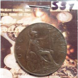 1904 Great Britain Large Penny. KM794.2. EF 40. KM $55.