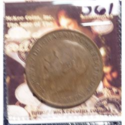 1921 Great Britain Large Penny. KM810. EF 40. Quite Scarce. KM Value $25.00.