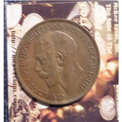 1922 Great Britain Large Penny. KM810. EF 45. Quite Scarce. KM Value $35.00.