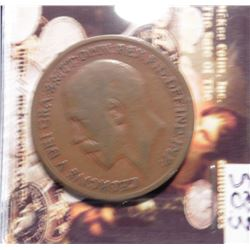 1919KN Great Britain Large Penny. KM810. Very scarce.