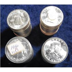 (4) 1960 P Gem BU Rolls of Franklin Halves. ($40.00 face value). CDN Bid Value is $1,120.00.