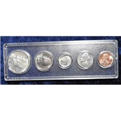 1965 Gem BU Year Set. Cent thru Half Dollar in a Snaptight case. (5 pcs.)