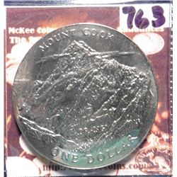 1970 New Zealand Mount Cook Commemorative One Dollar. KM42. Proof.