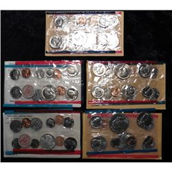 1968, 1969, 1974, 1980, & 1981 U.S. Mint Sets. Original as issued without envelopes. Originally from