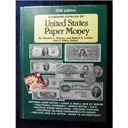 """20th Edition Standard Catalog of United States Paper Money"", by Chester Krause and Robert Lemke, hd"