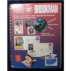 "Large format ""1997 Brookman"" Guide For Retail Stamp Prices. Spiral format. Like new."