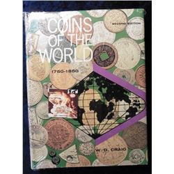 """Coins of the World 1750-1850"", W.D. Craig. Second Edition. Hdb. With dust cover, 448 pgs."