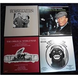 "Group of 33 RPM Record Albums: ""Greatest Original Radio Broadcasts Burns & Allen""; Maurice Chevalier"