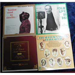 "Group of 33 RPM Record Albums: ""Jolie Live in '35"" Al Jolson on ""The Shell Chateau""; ""A Treasury of"