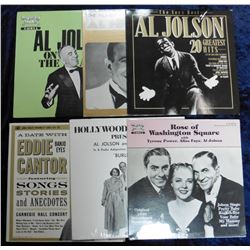 "Group of 33 RPM Record Albums: ""Hollywood on the Air Presents Al Jolson…""; ""Rose of Washington Squar"