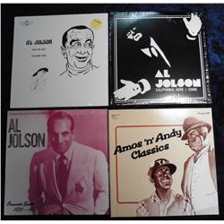 "Group of 33 RPM Record Albums: ""Al Jolson ""On the Air"" Volume Two; ""Al Jolson California, Here I Com"