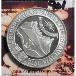 1978 Austria 100 Schilling Opening of Artberg Tunnel. KM2941 Proof .6400 fine silver. KM value $18.0