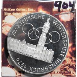 ND (1975)(v) Proof Olympics Austria 100 Schilling. .6400 fine Silver. KM2927. KM value $18.00.