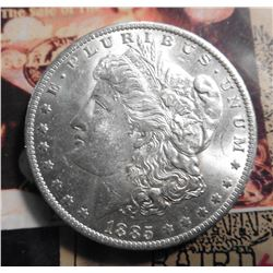1885 O Morgan Silver Dollar BU. Ex 1987 Glenn Baird Coin Auction.