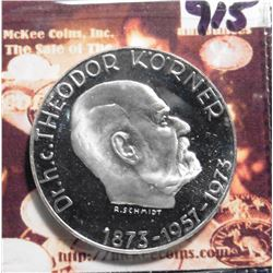 "ND (1973) Austria 50 Schilling .900 fine silver KM2917. ""100th Anniversary - Birth of Theodor Komer"""