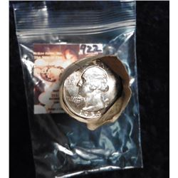 1954 P Original BU Roll of Washington Quarters in a paper wrapper. CDN bid is 220.00.