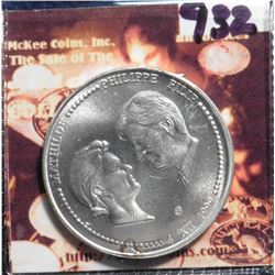 1999 Belgium 250 Francs. KM218. .9250 fine silver. Marriage of Price Philip and Princess Mathilde. G