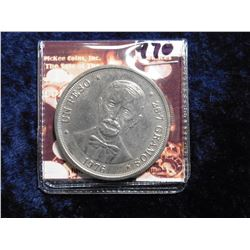 1976 Dominican Republic Peso. Centennial of the death of Juan Pablo Duarte. KM45. Gem BU.