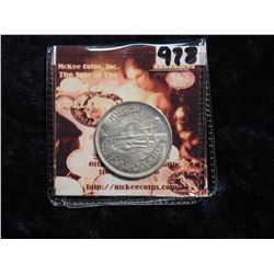 (1964) AH1384 Egypt 10 Piasters. KM405. Diversion of the Nile commemorative. .7200 fine Silver.