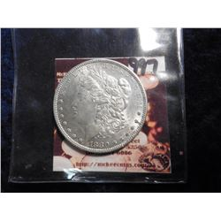 1880 P Morgan Silver Dollar. Uncirculated.