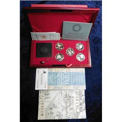 "1992 China ""Coins of Invention and Discovery Compass & Commemorative Silver Coin Set"" in Proof condi"