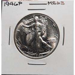 1946 P Walking Liberty Half Dollar. Brilliant Unc.