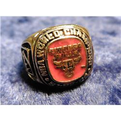 """NBA World championship 91-92-93"" Men's Ring, About a size 5. Doubtful that it is gold."