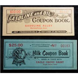 "Mint condition Coupon Books from the past century ""Gasoline and Oil Coupon Book Gasoline Alley Marsh"