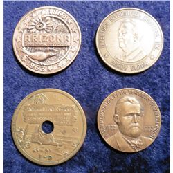 """Grady Clark"" Medal; 1863-1963 Arizona Medal; ""1822 1922 Commemoration of the Centenary of General G"