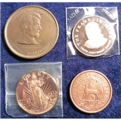 "1964-1975 the Franklin Mint Proof Medal; ""Value Me as You Please"" Medal with Deer; Liberty 200 Years"