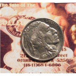 1937 P Buffalo Nickel Brilliant Uncirculated.