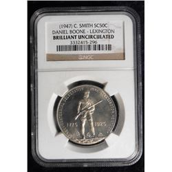 (1947) C. Smith SC50c Daniel Boone - Lexington (So-called Half Dollar) NGC slabbed Brilliant Uncircu
